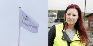 """""""Det har fått stort genomslag"""" säger Johanna Göransson om nyheten om den mobila sopstationen."""