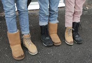 Några elever tog rocka sockorna till en ny nivå.