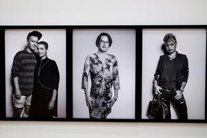 En del av utställningen handlar om nutid/mångfald inom transsexualiteten. Foto: Elisabeth Ohlsson Wallin