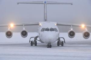 Första planet att landa på Scandinavian Mountains Airport i Sälen.