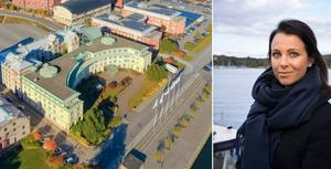 Spachefen Sofie Glad berättar om planerna för lyxhotellet i gamla Astrakontoret. Foto: Elite hotels.