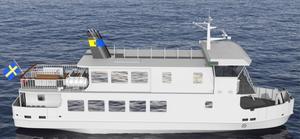 Yxlan heter det nya fartyget som köpts in av landstinget och ska trafikeras av Blidösundsbolaget under 2018.Foto: SLL