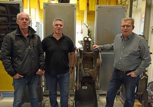 P-G Öberg, Christian Welander och Peter Wallberg är mycket nöjda med Antons insatser vid AQ Components Mjällom.