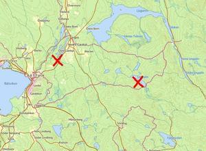 Länstyrelsen bildade Gärdsgruvans naturreservat och Kyrkbergets naturreservat 2017. (Karta: Hitta.se)
