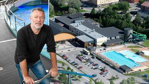 Hasse Bergqvist är arenachef för Himlabadet, som förra året hade 380 000 besökare.