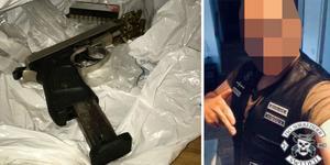 Mannen dömdes i mars till ett och ett halvt års fängelse efter att ha gripits med vapen.
