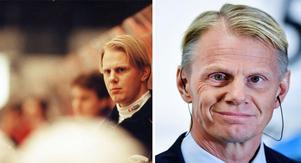 Vänster: Niklas Wikegård 1996, här i rollen som 33-årig tränare tränare för Djurgården. Bild: Lasse Wigert.Niklas Wikegård 2016. Bild: Mikael Fritzon/TT.