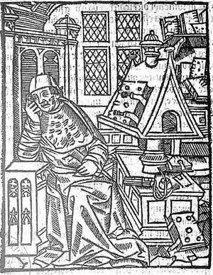 Den franske 1100-talsförfattaren Chrétien de Troyes illustrerad 1530 av okänd konstnär.