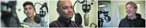 Tony Gustavsson blev hedersgäst när GIF-podden spelade in sitt 100:e avsnitt. Tidigare under gästade, bland många andra, Paya Pichkah och Cain Dotson studion. Bild: Andreas Lidén