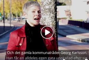 Näringslivschefen Angelica Ekholm är speaker i kommunens film om Borlänges finfina S-historia.