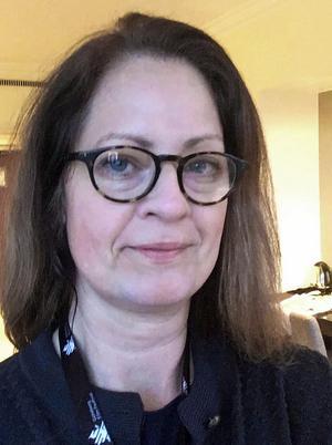 Charlotte Wells är ordförande i Folkare konstförening. Bild: Privat