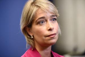Annika Strandhäll (S) är idrottsminister i den svenska expeditionsregeringen. Foto: Stina Stjernkvist/TT