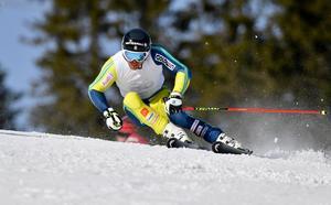 André Myhrer följde upp segern i fredagens slalom med att bli sexa i storslalom.