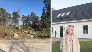På en skogstomt med eländiga stenar byggde Amanda Todor och hennes man sitt drömhus. Bild tomten: privat.