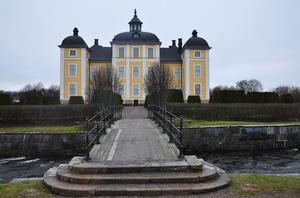 Strömsholms vackra slott en mulen trettondedagseftermiddag. Foto: Bengt Lövgren