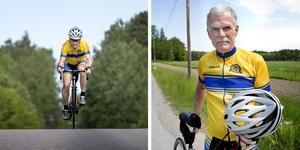 """Jan Karlsson, 68 år, från Pershagen har ställt upp i 32 Vätternrundor, fullföljt 29. Tre gånger har varit tvungen att bryta efter vurpor. En gång med allvarliga följder. """"Jag fick en spricka i bäckenet och slog upp ett stort sår i huvudet. Det blev ambulans till Jönköping"""