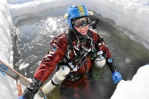 Mats Fröjdenlund har dykt i 30 år. Foto: Irena Stangierska.