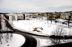 I höstas påbörjades saneringen på Norrmalmsparkeringen i väntan på att hotellbygget ska starta.