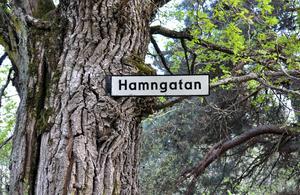 Anders Lif skriver i måndagens VLT att Hamngatan försvunnit.  Där har nog den gode Anders lite fel, här är den. Bilden tagen mellan slottet och bryggan på Ängsö.