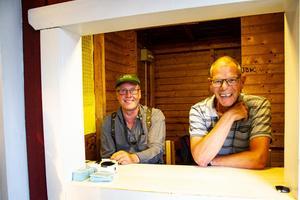 Per Arne Jonsson och Olle Magnusson är två ideellt arbetande i klubben Järvsö BK. De tar gärna emot besökarna på Nor i Järvsö.