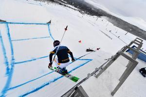 Erik Mobärg testar starten på Idre Fjäll som en föraning om vad som väntar i PyeongChang.