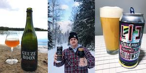 Så här kan det se ut på Anders Perssons instagramkonto keps_persson när han recenserar olika ölsorter. På senare tid har han försökt använda naturen som bakgrund allt oftare.