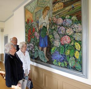En målning av Albin Amelin väckte stort intresse.