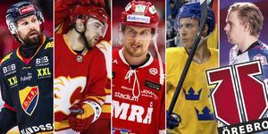 Spelarna som är med på NA:s och Hockeypuls lista. Foto: Erik Mårtensson / TT//Bildbyrån.