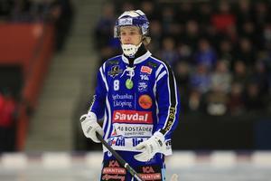 Landslagsdebutanten Ludvig Johansson i Villatröjan.