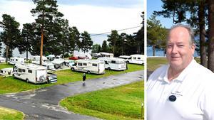 Mikael Axelsson är glad över att campingen i Fläsian fått in nytt kapital.