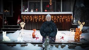 Susanne Björk älskar julbelysning.