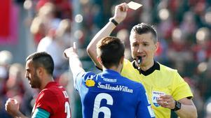 Juanjo Ciércoles fick säsongens tredje gula kort i mötet mot Östersunds FK i lördags. Det innebär att han är avstängd mot IFK Norrköping. Bild: Thérese Ny/TT