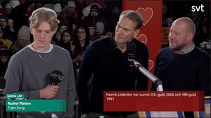 Hugo Mellinger, Nicklas Lidström och Patrik Zetterberg. Foto: SVTPlay.se