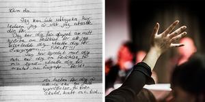Pastorn som åtalats för  sexuellt utnyttjande av person i beroendeställning skrev  ett brev till kvinnan han misstänks ha utnyttjat. Brevet kommer från polisens förundersökning. Bilden till höger är tagen under en gudstjänst i församlingen.