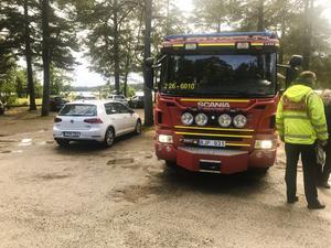 Räddningstjänsten larmades under fredagseftermiddagen till Stenö havsbad med anledning av ett drunkningstillbud.