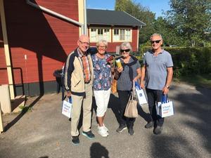 De fyra vinnarna, från SPF Hille: Ove och Inger Simonsson och Agneta och Lars-Åke Sund. Foto: Privat