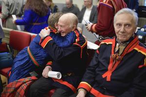 Glada miner när Högsta domstolen meddelade att Girjas sameby vinner tvisten mot staten.