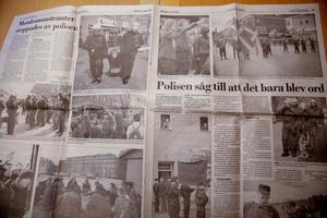 För 19 år sedan demonstrerade nazisterna i Ludvika på första maj. Då lyckades polisen hålla i sär nazister och motdemonstranter (Nya Ludvika Tidning 3 maj 1999)