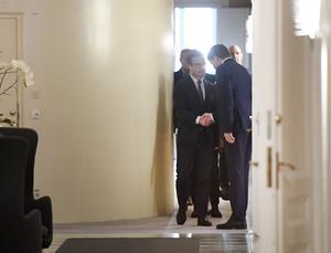 På söndagen träffade Ulf Kristersson (M) på nytt talmannen Andreas Norlén. Foto: Henrik Montgomery/TT