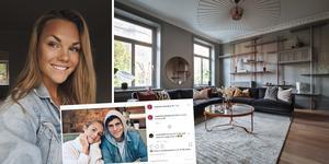 Maja Persson fick inreda familjen Nilsson Lindelöfs lägenhet i Stockholm. Foto: Privat/Instagram/Petter Fällström & Martin Ridne