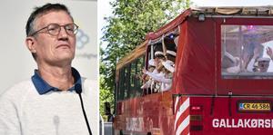 Partybussarna ligger under samma regelverk som gäller när man hyr ut lokaler – max åtta personer får medverka, säger statsepidemolog Anders Tegnell. Arkivbilder.