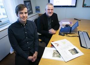 Jacob Blomkvist och Åke Sjöberg tror att det kommer bli mest synpunkter på att husen är tänkt att bli höga i förhållande till övrig bebyggelse på Åkerö och i Leksand.