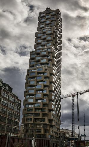 Bygget av Norra tornen (2019-05-07). Foto: Simon Rehnström/TT