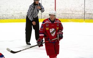 Gustav Åman stod för sju poäng i matchen mot Vansbro. Efter målgivande passningar fick BK-backen göra sina två första mål för säsongen i den tredje perioden.
