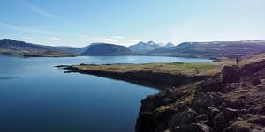 En av Islands många vackra fjordar som deltagarna från Bäckedal passerade på sin resa.