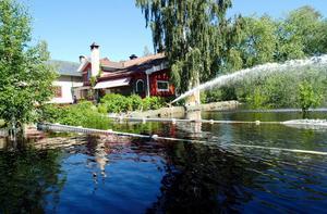 Vattnet steg långt över det normala i slutet av juli år 2000.Foto: Kjell Jansson