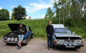 Linus Gustafsson och Albin Johansson från Bjursås kom till EPA-träffen i Sågmyra.