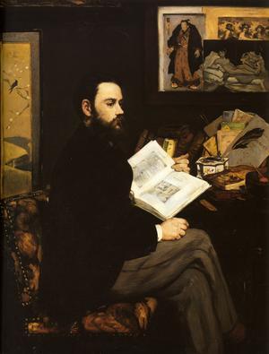 Émile Zola. Målning av Édouard Manet från 1868.