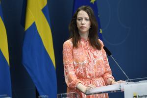 Åsa Lindhagen har, tillsammans med en rad partikollegor, skrivit en debattartikel om Miljöpartiets ställning i sexköpslagsfrågan. Foto: Ali Lorestani/TT