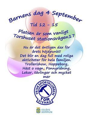 Här är affischen som en del av striden mellan Barnens dag-förbundet och Skåne-föreningen FK Tor handlar om.